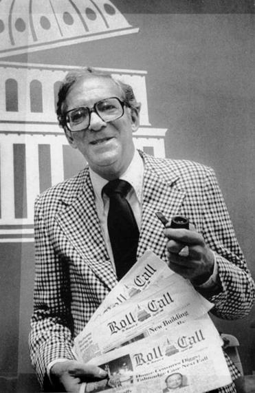 Former Hollywood reporter Sid Yudain with his newspaper in 1980. Some contributors were high-ranking officials.