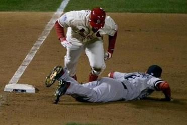 By the time Allen Craig and Will Middlebrooks untangled, the umpires held Middlebrooks at fault, leading to the first World Series game to end on an obstruction call.