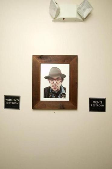 The picture of Justin Townes Earle that inspired the Sinclair's look now hangs at the nightclub.