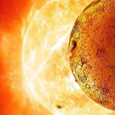 An artist's rendering of the hot, rocky world, Kepler 78b.