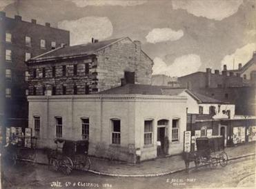 St. Louis City Jail, circa 1870, where some slaves who filed suit were held pending the court's decision.