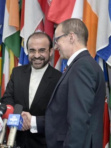 Reza Najafi, Iran's ambassador to the International Atomic Energy Agency, and Taro Tapio Varjoranta of the agency met the media following the talks in Vienna.