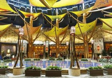 An eye-catching hotel at Mohegan Sun.