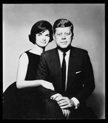 Jackie and JFK in a portrait by Richard Avedon.