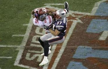 David Tyree's miracle catch helped the Giants upset the Patriots in Super Bowl XLII.