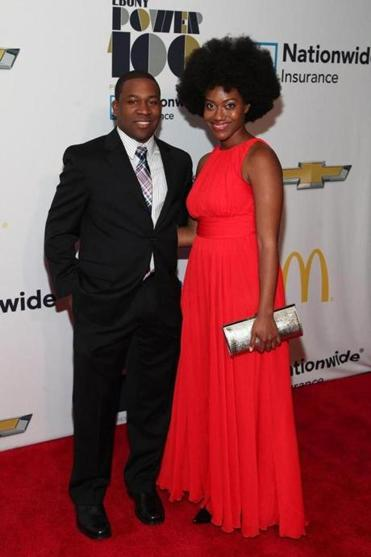 Dantes Rameau and guest at the Ebony's Power 100 list gala.