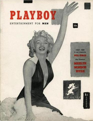 Playboy's first edition in 1953.