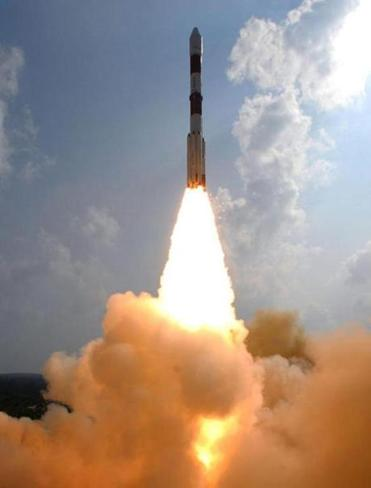 The rocket carrying the 3,000-pound orbiter Mangalyaan blasted off from the Indian island of Sriharikota on Tuesday.