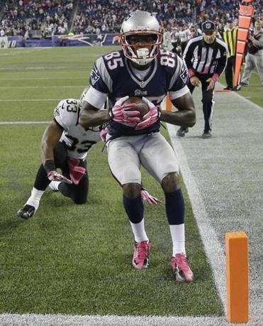 Kenbrell Thompkins provided the Patriots' play of the year with his touchdown catch to beat the Saints.
