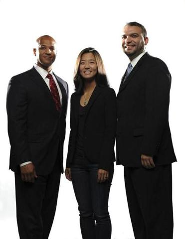 Left to right: John Barros, Michelle Wu, and Felix Arroyo.