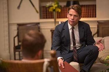 "Lynn native Jack Noseworthy playing Robert F. Kennedy in the National Geographic Channel's ""Killing Kennedy."""