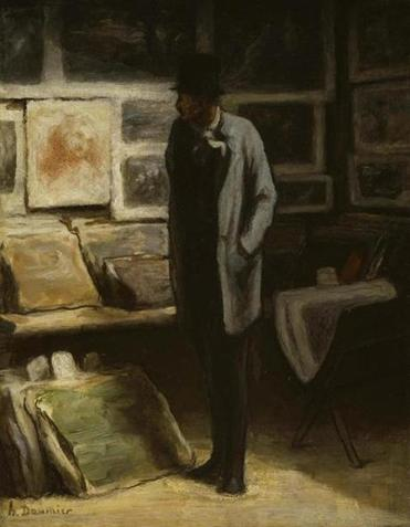 "Honoré Daumier's ""The Print Collector"" (circa 1857-63) is on exhibit in London."