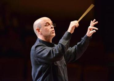 Conductor Gil Rose during the Boston Modern Orchestra Project.