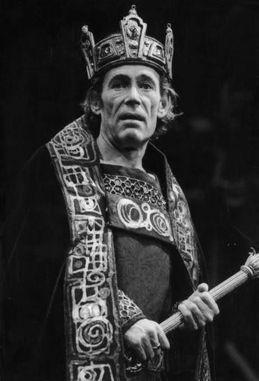 "Actor Peter O'Toole played the title role in a 1980 production of ""Macbeth."""