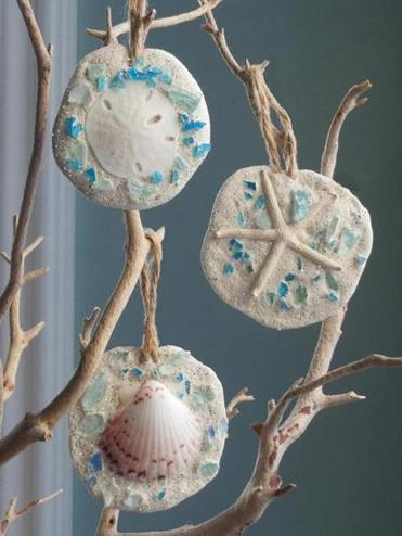 beach and nature company offers beach themed ornament kits - Beach Themed Christmas Ornaments