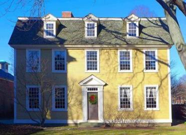 The Crowninshield-Bentley House: Built circa 1727-30 on another site for Captain John Crowninshield, it was moved and restored in 1959-60 and now is a property of the Peabody Essex Museum.