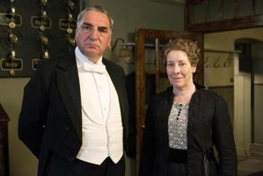 "Jim Carter and Phyllis Logan in ""Downton Abbey."""