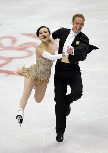 Evan Bates Ice dancers Madison Chock and Evan Bates in second after short dance
