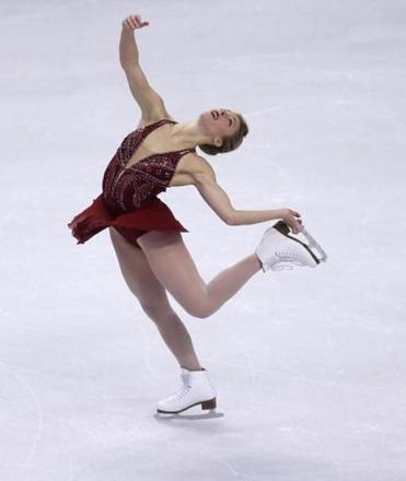 Ashley Wagner competes in the US Figure Skating Championships in Boston earlier this year.