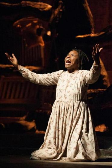 "Lovely Hoffman as Celie in ""The Color Purple."""
