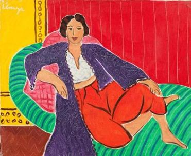 "Hungarian painter Elmyr de Hory's forged Matisse, ""Odalisque,"" is displayed at ""Intent to Deceive: Fakes and Forgeries in the Art World"" at Springfield's D'Amour Museum of Fine Arts. This version was done in 1974."