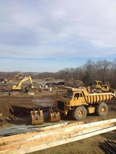 A photo provided by New England Baseball Enterprises depicts the construction work already underway at the site of its developmental complex near routes 9 and 20 in Northborough.