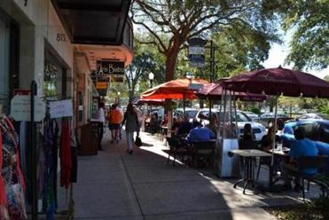 Chic new shops and restaurants line Park Avenue in historic downtown Winter Park.