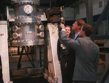 In 1995, Vice President Al Gore was given a tour of the Molten Metal plant in Fall River by CEO Bill Haney.