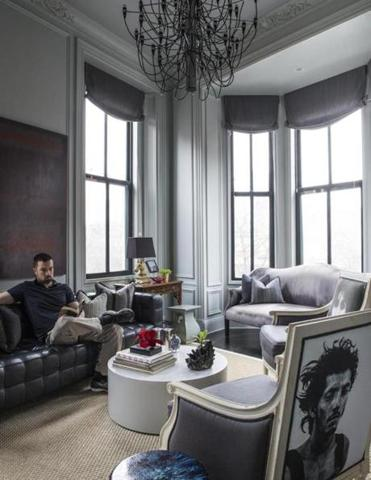 Homeowner Richard Cook (pictured) bought his South End condo at the urging of designer Josh E. Linder, who had already redecorated the place in his head.