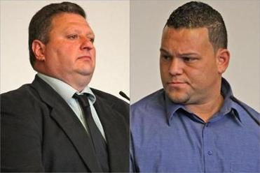 Paul Iacobacci (left) and Tony Pasuy were cleared in a 2008 toll-skimming case but a confidential settlement meant the state never announced that they had gotten their jobs back.