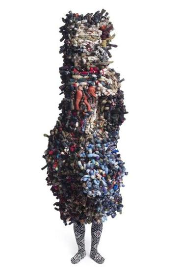 "A 2012 ""Soundsuit"" by Nick Cave, whose exhibition ""Soundsuits"" runs through May 4 at the Institute of Contemporary Art."