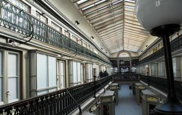The upper floors of the Arcade, which were transformed into living spaces.