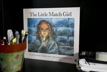 "A copy of ""The Little Match Girl."""