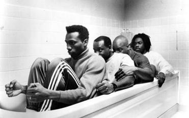 "Leon, Rawle D. Davis, Malik Yoba, and Doug E. Doug in ""Cool Runnings.''"