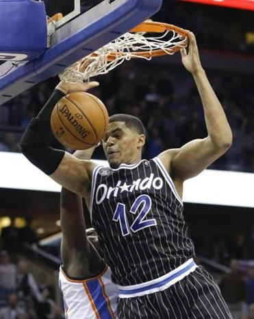 Orlando's Tobias Harris slammed home the winning points at the buzzer.
