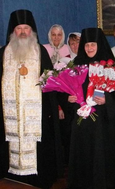 A nun named Lyudmila (right) and a parishioner were killed trying to stop the attacker.