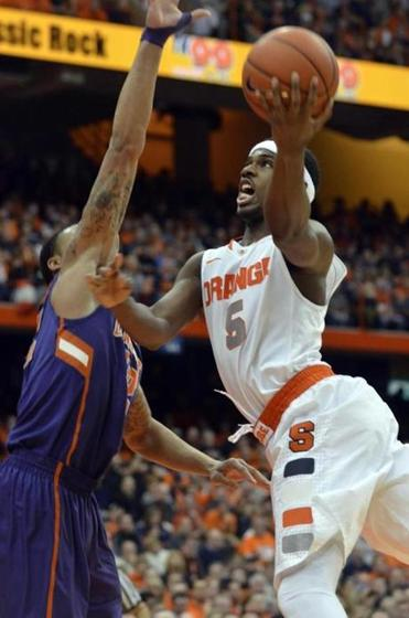 Forward C.J. Fair provided a spark for the Orange, hitting 8 of his 13 shots and grabbing seven rebounds.