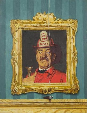 "This oil study for Norman Rockwell's ""The Fireman"" will be offered with a $50,000-$100,000 estimate at Grogan and Co.'s auction next Sunday."