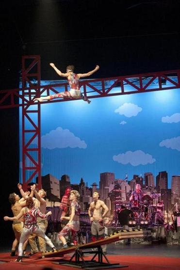 "Some high-flying fun by Circus Oz  in ""From the Ground Up""  at the Shubert Theatre."