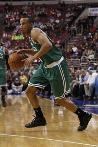 Boston Celtics Avery Bradley in action during the first half of an NBA basketball game against the Philadelphia 76ers, Wednesday, Feb. 5, 2014.