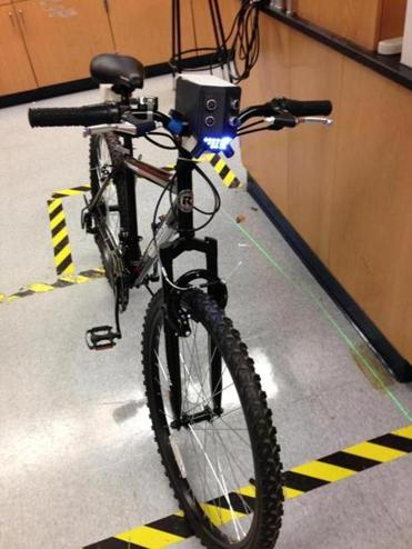 "Four engineering students at Northeastern University have created a ""smart bike"" with sensors to detect cars."