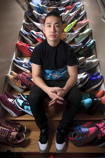 Collecting since high school, 21-year-old Jonathan Tran has made at least $18,000 reselling sneakers.