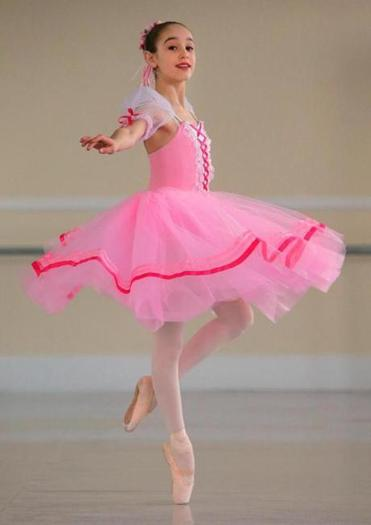 Ava Girard, a 12-year-old ballet student who has advanced to the finals of the Youth American Grand Prix 2014.