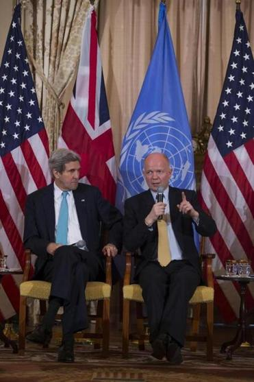 Secretary of State John Kerry met with British Foreign Secretary William Hague at the State Department.