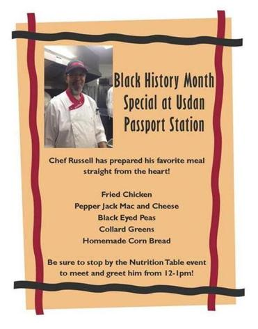 The menu offered at Brandeis drew no apparent complaints as Black History Month wound down last week.