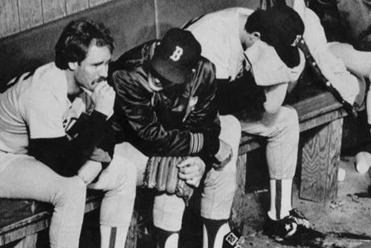 Wade Boggs cries after Boston lost the 1986 Series; current Sox shed tears of joy after winning it all in 2013.