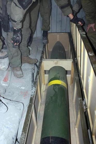 Israeli commandos stood over a Syrian-made M-302 rocket after it was seized on a ship in the Red Sea. Officials said Israel had been tracking the shipment for months.