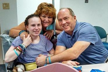 Linda and Lou Pelletier with Justina in September.
