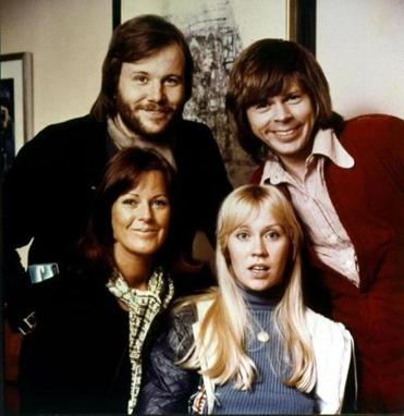 ABBA in 1974: (back, from left) Benny Andersson and Björn Ulvaeus and (front, from left) Anni-Frid Lyngstad and Agnetha Fältskog.