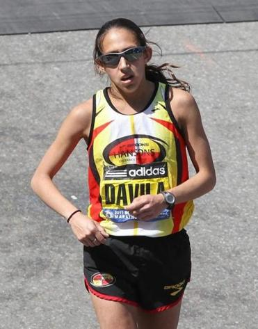 Desiree Davila (now Desiree Linden) came in a surprising second in the Boston Marathon in 2011.
